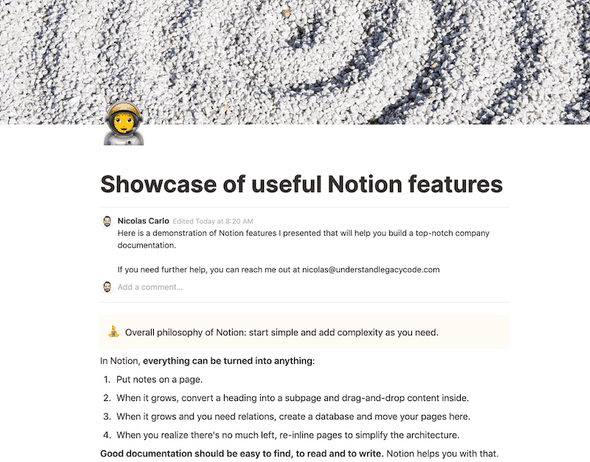 notion showcase